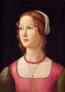 Portrait of a young woman *tempera on panel *44 x 32 cm *circa 1490 - 1494