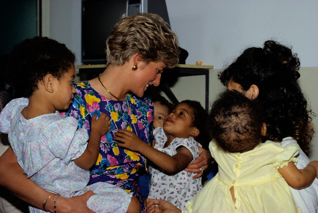Princess Diana Visiting Orphanage in Brazil