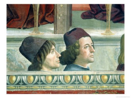 Portraits De Mateo Franco and Luigi Pulci, Domenico Ghirlandaio
