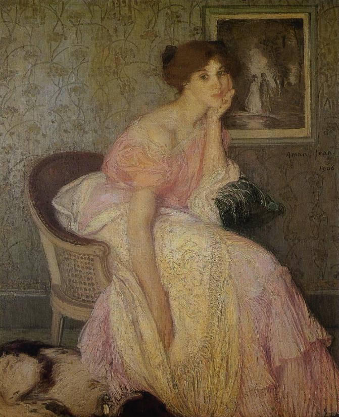 Edmond AMAN-JEAN  Portrait de jeune fille