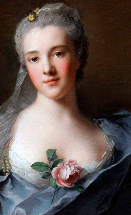 Potrait With A Rose, Rosalba Carriera