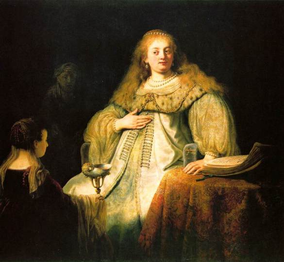 Rembrandt, Sophonisba receives the cup of poison, 1634,Prado Museum. Madrid, Spain.