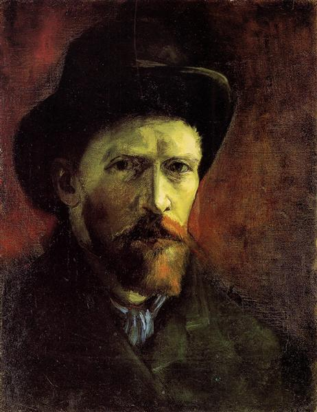 Vincent van Gogh,Self Portrait With Dark Felt Hat, 1886, Van Gogh Museum, Amsterdam