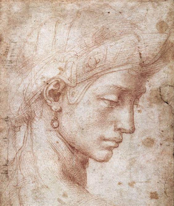 testa-femminile-di-profilo-michelangelo