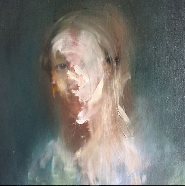 Detail, 'Portrait of a woman in yellow', Jake Wood Evans.JPG