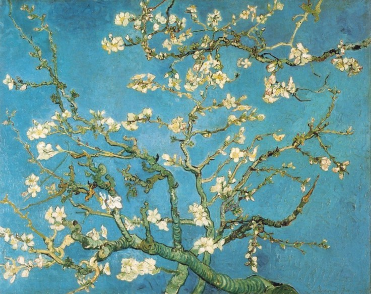 Almond Blossoms Painting by Vincent van Gogh